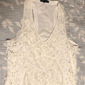 Banana Republic sleeveless crochet top